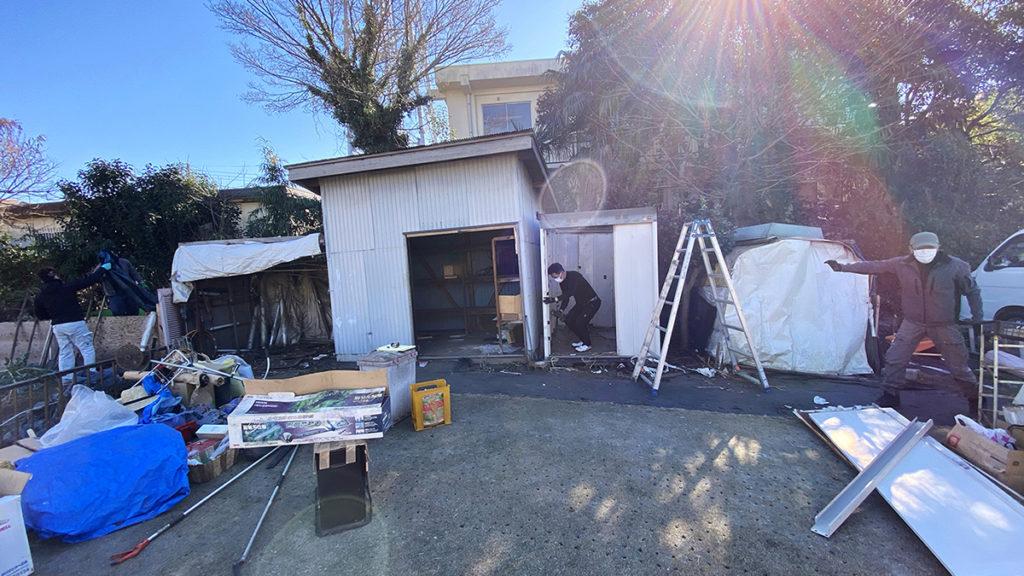2021年1月 神奈川県横浜市旭区 I様邸 木製パーゴラ 設計 + 施工 既存物置撤去
