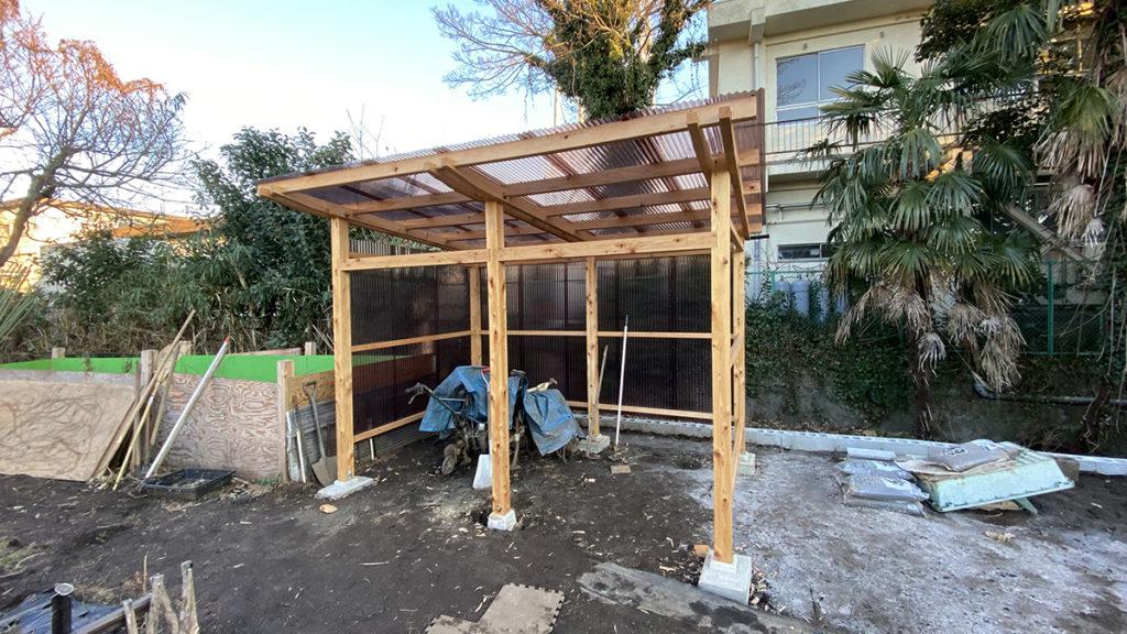 2021年1月 神奈川県横浜市旭区 I様邸 木製パーゴラ 設計 + 施工 パーゴラ新設
