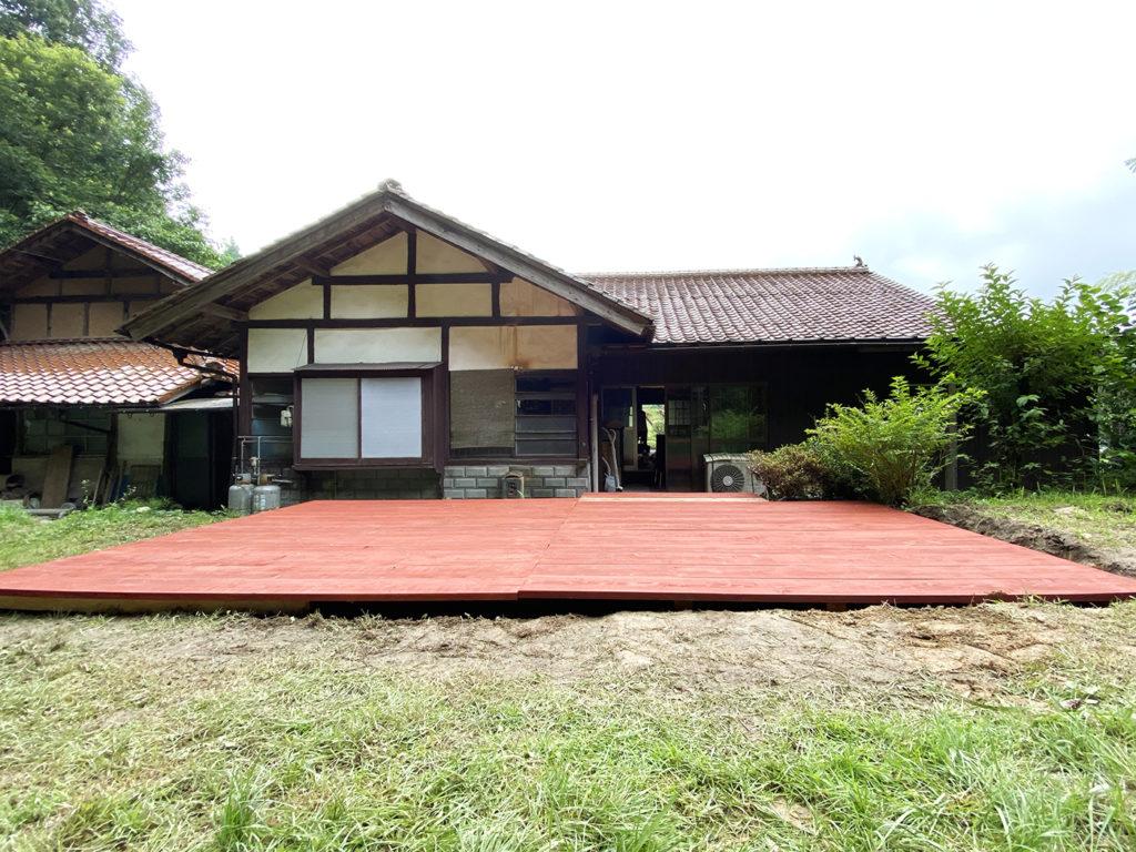 2020年7月 広島県山県郡北広島町 T様邸 ウッドデッキ 設計 + 施工