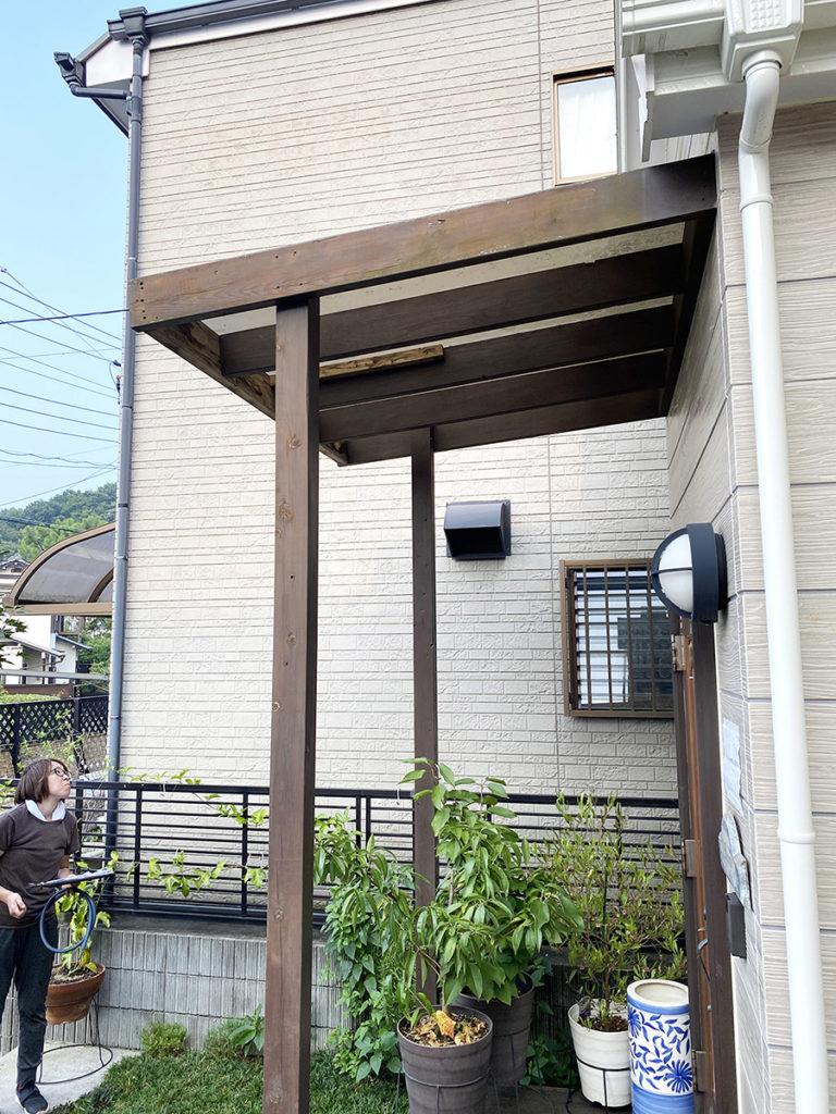 2020年8月 神奈川県中郡二宮町 H様邸 ウッドデッキ新設、玄関ポーチ交換 設計 + 施工 施工前