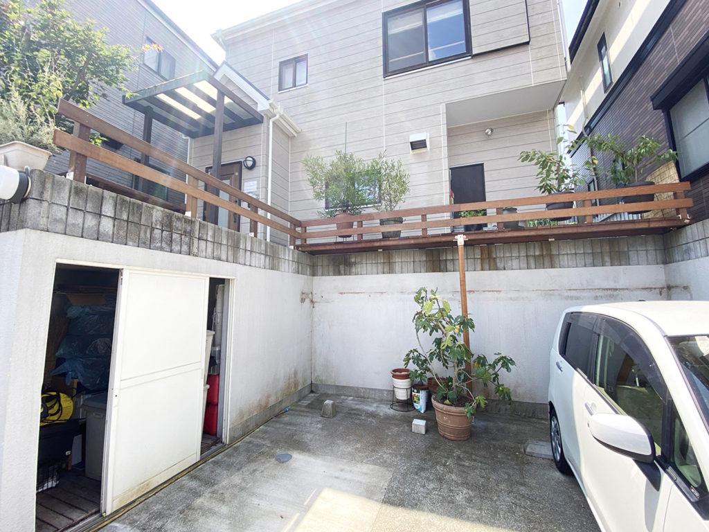 2020年8月 神奈川県中郡二宮町 H様邸 ウッドデッキ新設、玄関ポーチ交換 設計 + 施工 施工完了